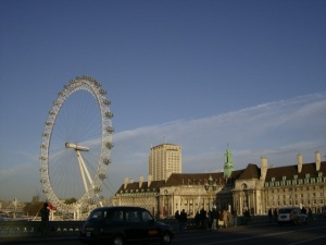 london eye in sky
